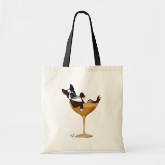 Boston Terrier in Cocktail Glass 2 Budget Tote Bag