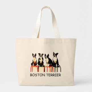 BOSTON TERRIER JUMBO TOTE BAG