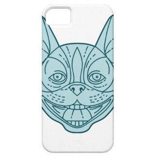 Boston Terrier Laughing Circle Mono Line iPhone 5 Cases