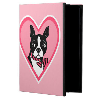 Boston Terrier Love Pink iPad Case