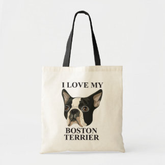 Boston Terrier Love Tote Bag