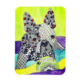 """Boston Terrier Magnet 3""""x4"""" (You can Customize)"""