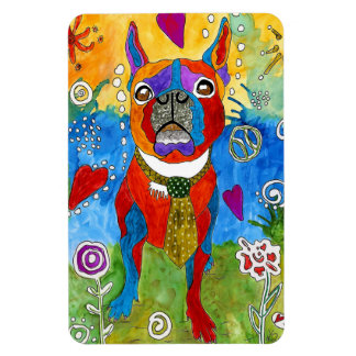 """Boston Terrier Magnet 4""""x6"""" (You can Customize)"""