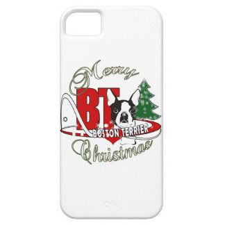 BOSTON TERRIER MERRY CHRISTMAS iPhone 5 COVER