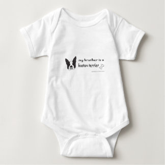 boston terrier - more breeds baby bodysuit