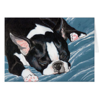 Boston Terrier Nap Card