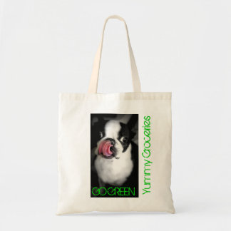 BOSTON TERRIER Organic Grocery Bag