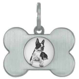 Boston Terrier Pet ID Tag