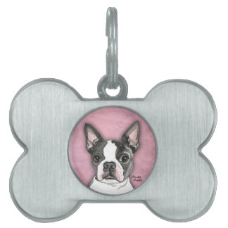 Boston Terrier Pet Name Tag