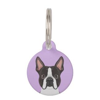 Boston Terrier Pet Name Tag