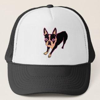 Boston Terrier (pink/blk) Trucker Hat