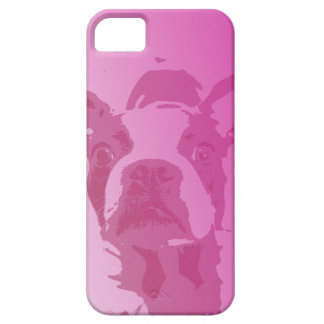Boston Terrier Pink iPhone 5 iPhone 5 Covers