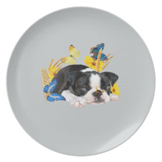 Boston Terrier Play Day Plate