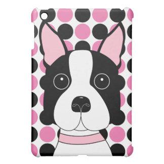 Boston Terrier Polka Dots iPad Mini Covers
