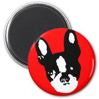 Boston Terrier Pop Art 6 Cm Round Magnet