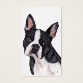 Boston Terrier Portrait Business Cards