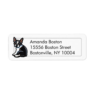 Boston Terrier Profile Studio Simple Return Address Label