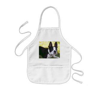 Boston Terrier Pup Children's Apron