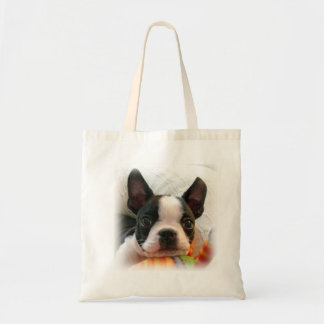 Boston Terrier Pup Tote Bag