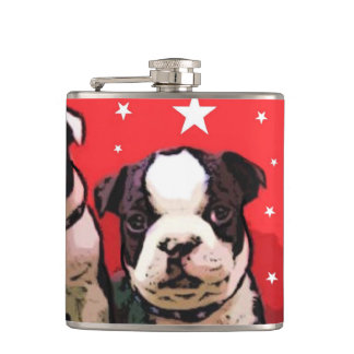 Boston Terrier puppies flask