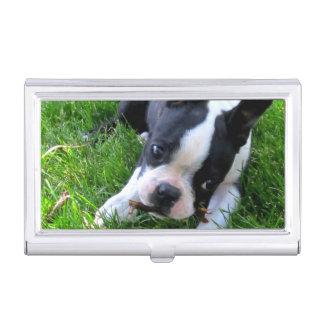 Boston Terrier Puppy Business Card Holder