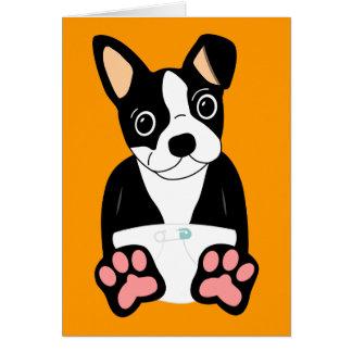 Boston Terrier Puppy Cards