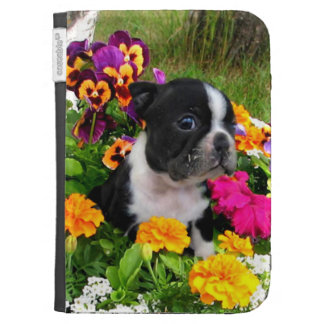 Boston Terrier puppy Kindle Keyboard Cases