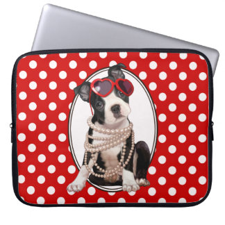 Boston Terrier Puppy Computer Sleeves