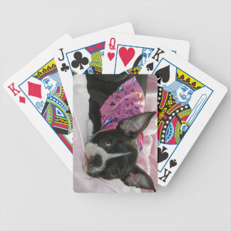 Boston Terrier Puppy Dog Bicycle Playing Cards
