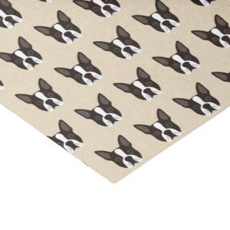 Boston Terrier Puppy Dog Tissue Paper