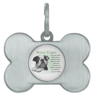 Boston Terrier Puppy Heritage of Love Pet Tag