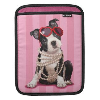 Boston Terrier Puppy iPad Sleeves