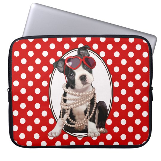 Boston Terrier Puppy Laptop Sleeve