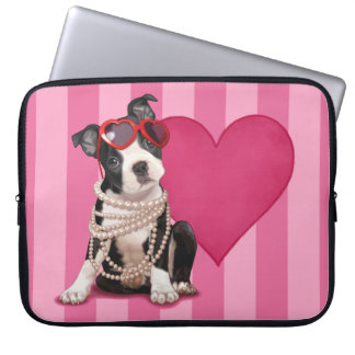Boston Terrier Puppy Laptop Sleeves