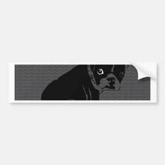 Boston Terrier puppy Woof Bumper Sticker