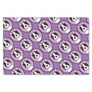 Boston Terrier Purple Tissue Paper