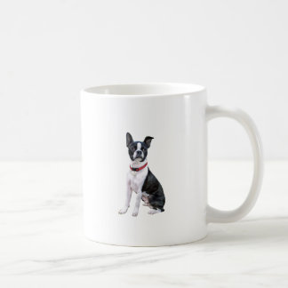 Boston Terrier (red collar) Mugs
