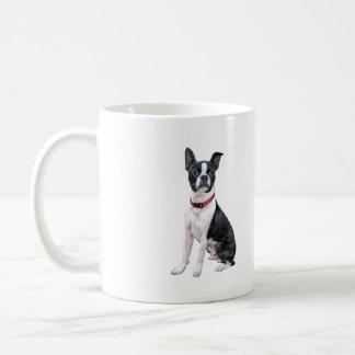 Boston Terrier (red collar) Coffee Mugs