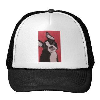 Boston Terrier Red Head Tilted Cap