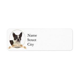 Boston Terrier Return Address Labels
