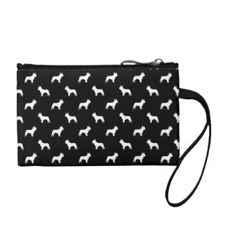boston terrier silhouette dog design coin purse