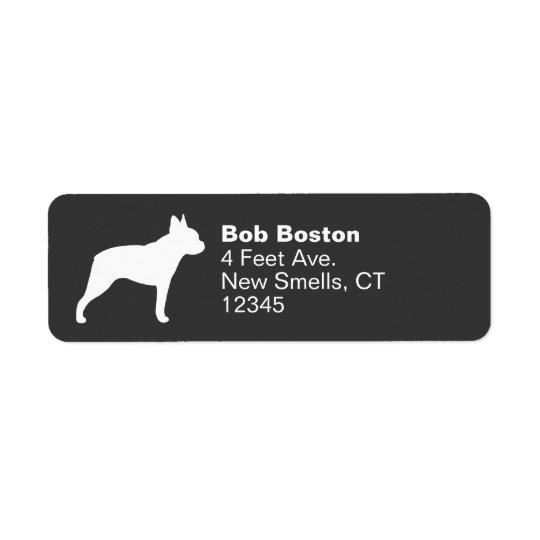 Boston Terrier Silhouette Return Address Label