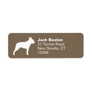 Boston Terrier Silhouette Return Address Label
