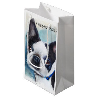 BOSTON TERRIER SMALL GIFT BAG