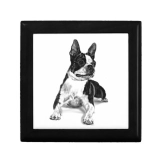 Boston Terrier Small Square Gift Box