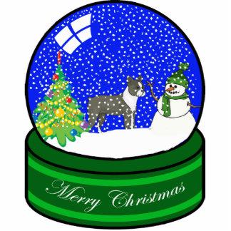 boston terrier snow globe photo cut out