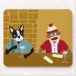 Boston Terrier & Sock Monkey