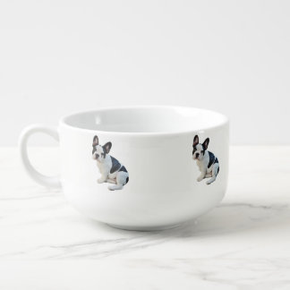 Boston Terrier Soup Bowl With Handle