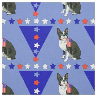 Boston Terrier Stars Fabric