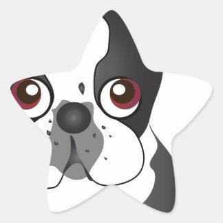 Boston Terrier Star Sticker